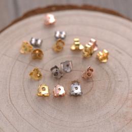 100 paia di alta qualità 100% argento 925 orecchino posteriore spina impostazioni orecchino base orecchini a bottone posteriore accessori per gioielli da