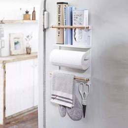 Nuevo Multifunción Estantes de baño Estantes magnéticos de doble nivel Se pegan al refrigerador Lavadora Gancho Toallero Estante Porta papel higiénico desde fabricantes