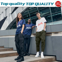 Sporen trikots online-2019 Spurs home white # 10 KANE Trikots 19 20 Men # 7 SON # 20 DELE away blue kurzarm Adult football Uniforms Reduziert