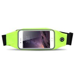 paquetes de teléfono celular en el pecho Rebajas 2018 Slim Running Cell Phone Cofre Cintura Bolsa Riñonera Impermeable Deportes Running Bolsas gimnasio bolsa deporte para teléfono