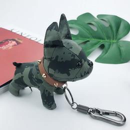 bull terrier geschenke Rabatt Schlüsselanhänger Welpen Spielzeug Anhänger Designer Hundkeychain neue Art und Weise bull terrier Glück See Tanabata Paar Geschenk Puppe Schlüsselanhänger