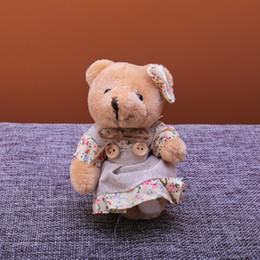 Argentina Mujeres juguete Animal llavero lindo princesa oso vistiendo una falda muñeca llavero bolsa coche llavero Trinket regalo de joyería de moda 2019 supplier wearing jewelry Suministro
