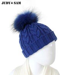 2019 cappelli di inverno bella ragazza Cappello in misto lana per 10/36 mesi con soffici cappelli in pelliccia di procione Cappellino invernale per accessori per bimbi e ragazze sconti cappelli di inverno bella ragazza