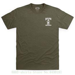 registro de bolso Desconto Shotdeadinthehead Oficial da Morte Row Records Logotipo Bolso Imprimir Camiseta Pour Homme Moda Homens Tshirt