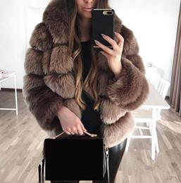 Крокодил онлайн-Искусственного меха кролика куртки пальто зимы женщин с капюшоном Плюс Размер Элегантный манто Femme Hiver 2018 вечеринок полушубок Top Coats SH190930
