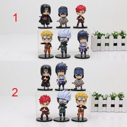 naruto sakura figures Promo Codes - Toys Hobbies Action Toy Figures 6pcs lot 9-10cm Anime Naruto Figure Toy Sasuke Kakashi Sakura Gaara Itachi Doll for Children