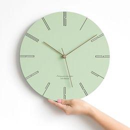 montres relojes Promotion Ronde Silencieux Créatif Horloge Murale Design Moderne Nordique Montre Mural Décor À La Maison Relojes De Pared Maison Duvar Saatleri Horloges WBY057