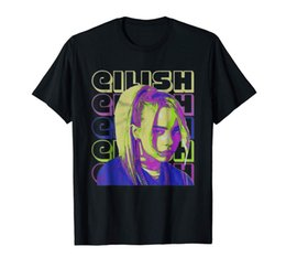 camisetas divertidas envío gratis Rebajas Billie Eilish Funny Black T-Shirt S-3XLFunny envío gratis Unisex Casual camiseta Top
