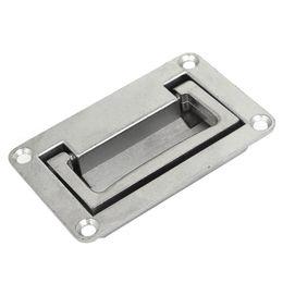 Poignées pliantes en Ligne-LHLL Poignée à tirer en forme de rectangle en métal de 9,5 cm x 6 cm en forme de rectangle