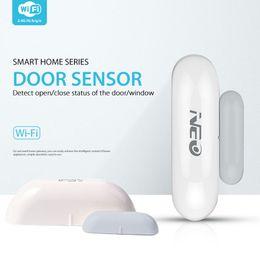 capteurs de fenêtre Promotion Capteur de porte de détecteur de porte de détecteur de porte de détecteur de sécurité durable durable 2.4GHz 2 ans WiFi Home Automation Monitor Security Alarm