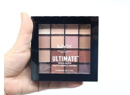 Canada NYX 16 couleurs Ombre à paupières ultime NYX Palette Ombre à paupières Palette Shimmer Mat Maquillage Cosmétiques a19 Offre