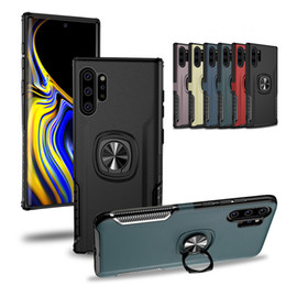 S8 caso difícil on-line-Hard Case Voltar telefone para Samsung Nota 10 PLUS S10 S10e S9 S8 Magnetic Anel Car Holder capa para o iPhone 11 Pro MAX