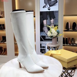 NGlossy Patent Leather Women botas de cano alto para Lady Girls Sexy sapatos de salto alto com fita de contraste de cor framis fita Botas de joelho Vermelho Branco supplier white colour women boots de Fornecedores de botas femininas de cor branca