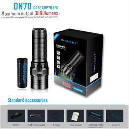 jäger taschenlampe Rabatt IMALENT DN70 USB wiederaufladbare CREE XHP70 3800 Lumen 325 Meter LED-Taschenlampe von 26650 Batterie