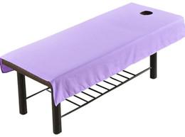 O salão de beleza cosmético de 75 * 190cm cobre folhas de cobertura da mesa da cama do tratamento da massagem dos TERMAS com folha do furo de