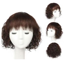 perruque foncée de longueur moyenne Promotion Perruques de cheveux humains de longueur moyenne humides et ondulés de cheveux brésiliens de Remy brésiliens pour les femmes noires