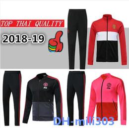 2018 2019 utd POGBA Survêtement survêtement de survêtement 18/19 homme LUKAKU RASHFORD uni veste de football pull-over entraînement meilleur ? partir de fabricateur