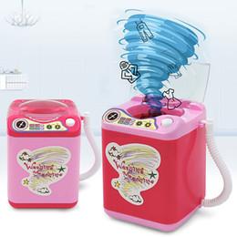 Máquinas de torneado online-Mini simulación eléctrica, lavadora, puff, niños eléctricos, sacudiendo el mismo párrafo, girará para drenar el juguete de la casa.