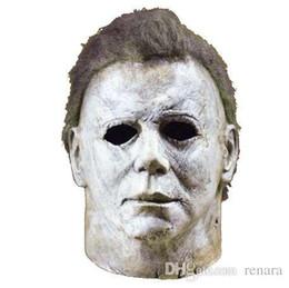 2019 augenpflege tropfen Michael Myers Maske Halloween 2019 Horrorfilm Cosplay Adult Latex Integralhelm Halloween Party Scary Requisiten