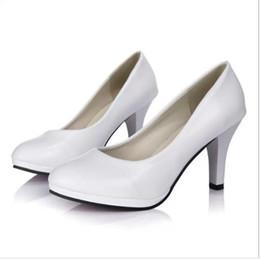 scarpe da lavoro professionali Sconti 2019 primavera e autunno professionale di grandi dimensioni di alta con quattro stagioni scarpe singole scarpe di vernice rosso lavoro matrimonio s