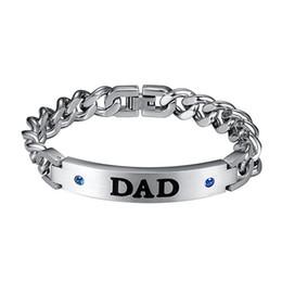 2019 encantadora al por mayor para hombre DAD Letter pulseras para hombre 2019 moda acero inoxidable braclet lovely dad Jewelry gift para un hombre al por mayor rebajas encantadora al por mayor para hombre