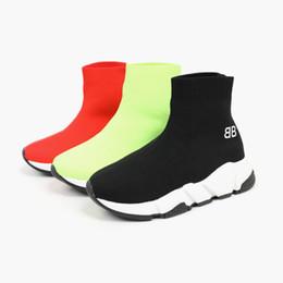 Zapatos del deporte letra de los niños impresos zapatos para correr activo sólido de color transpirable zapatillas de deporte causales Niños Niñas Niño desde fabricantes