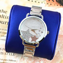 2019 серебряные часы Лучшие дизайнерские женские часы для отдыха кварцевая Звезда циферблат браслет элегантные часы стальной ремешок серебро / розовое золото роскошные часы оптовая цена дешево серебряные часы