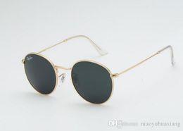 2018 новинка круглые розовые солнцезащитные очки женские роскошные металлические солнцезащитные очки лето на открытом воздухе UV400 черный градиент дизайнер gafas 3447 очки женские от Поставщики дешевые дизайнерские солнцезащитные очки