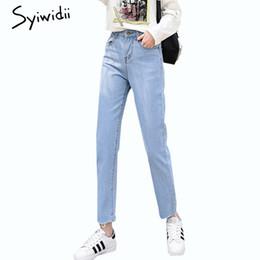 Sky Blue Jeans Frau Jeans Quaste hohe Taille plus Größe Frauen 2019 Frühjahr neue heißen Verkauf feste Wäsche Denim Hosen
