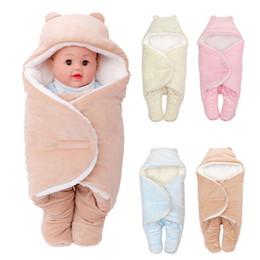 2019 sofá moderno marrom Novo Criativo Sólido Inverno Quente Macio Recém-nascido Portátil Swaddle Cobertor Cocoon Saco de Dormir Infantil Envoltório Do Bebê Cobertor