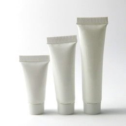 oz bottiglie di lozione di plastica Sconti 200 x bianco in plastica morbida Bottiglia cosmetica Crema Mani viso vuoto Spremere Tubo Shampoo lozione bottiglie riutilizzabili 5g 10g 15g 1/2 oz