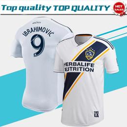 Futebol galaxy on-line-MLS Versão do Jogador Los Angeles Galaxy Casa Camisa de Futebol 2019 # 9 IBRAHIMOVIC LA Galaxy camisa de futebol # 8 J.DOS SANTOS uniformes de Futebol
