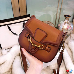 dark brown handbags Coupons - hot sale designer handbags crossbody messenger bags good quality leather bags classical style saddle bag dust bag box