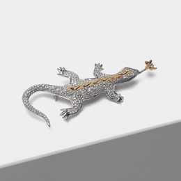 2019 lucertola animale Amorita boutique Lizard pin fashion animal brooch sconti lucertola animale