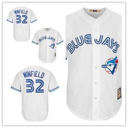 4d3a8e7e8 Custom 2019 Men's Blue Jays 32 Dave Winfield Toronto White Home Cool Base  Cooperstown Collection Player women kids Jersey
