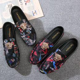 Koreanische faule schuhe online-2019 neue Bean Shoe Men Spring Korean Fashion Herrenschuh Society Fast Hand Red Lazy Red Sommerschuhe
