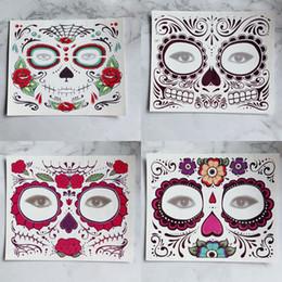 Tek kullanımlık Göz Farı Sticker Sihirli Göz Yüz Dantel Tarzı Güzellik Makup Sahne Cadılar Bayramı Partisi Için Su Geçirmez Geçici Dövme RRA1708 nereden