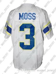 gamecocks di carolina Sconti Personalizzato Randy Moss # 3 Dupont Alta Scuola di New Jersey di calcio bianco cucito Qualsiasi numero nome XS-5XL