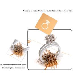 2019 festa de aniversário das decorações do diamante Para fora da decoração do dia dos namorados cartão presente fontes do partido de aniversário de casamento artesanal 3d papel artesanal anel de diamante