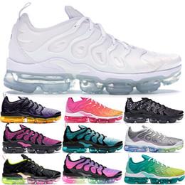 Almofadas de arco-íris on-line-Aurora geométrico verde Preto Laser fúcsia Mais de sapatos masculinos TN funcionamento das mulheres Olímpico Triplo Branco Jogo do arco-íris Royal Air sneakers almofada
