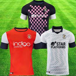 camicie da campionato Sconti 2019 2020 LUTON TOWN FC Soccer Jerseys 2019 Campionato LEAGUE maglie di calcio COLLINS LUALUA BAPTISTE kit attrezzature da calcio
