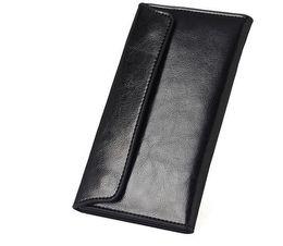New Long-Style Lady Leder Brieftasche weiche Brieftasche einfache ultradünne umgedrehte Rindsleder Umschlag Tasche Freizeit, großzügig, modisch und schön von Fabrikanten
