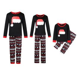 Семья соответствия Рождество пижамы набор топ и длинные брюки пижамы домашняя одежда PJ наборы от Поставщики мама дочка соответствия весеннее платье