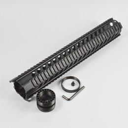 2019 montage sur rail quadruple 15 pouces Free Float Quad Rail Handguard rail de montage Tactical Gear Accessoires de chasse couleur noire promotion montage sur rail quadruple