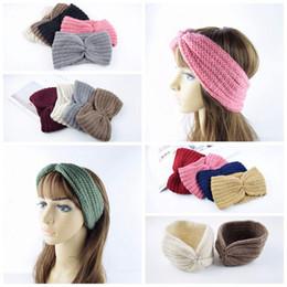 Canada Femmes Turban Tricoté Bandeau Bande De Cheveux Hiver Oreille Réchauffeur Bandeau Crochet Câble Bandeau Oreille cheap ear cable Offre