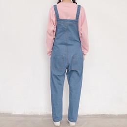 cc697a8453c loose girls denim jumpsuit korean preppy style casual simple anklelength denim  jumpsuit women big pocket jeans jumpsuit discount denim korean jumpsuit