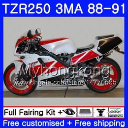 2019 1996 body kits Kit Para YAMAHA fábrica branco vermelho TZR250RR TZR-250 TZR 250 88 89 90 91 Corpo 244HM.38 TZR250 RS RR YPVS 3MA TZR250 1988 1989 1990 1991 Carenagem 1996 body kits barato