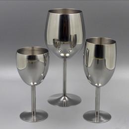 2019 copos de champanhe 2 pcs Clássica Óculos de Aço Inoxidável 18/8 Wineglass Bar Vinho De Vidro Champagne Cocktail Beber Encantos Copo Do Partido Suprimentos Q190525 copos de champanhe barato