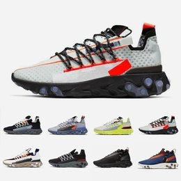 Sapatas running do fantasma on-line-Nike Black Anthracite React LW WR MID ISPA men women running shoes Ghost Aqua Wolf Grey Platinum Volt Summit White mens trainer sports sneakers