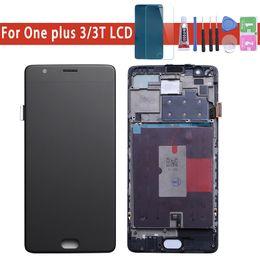 acessórios oneplus Desconto Oneplus 3 T Display LCD Tela Sensível Ao Toque de 100% Nova FHD 5.5